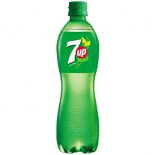 7 Up Soft Drink - Lemon Flavor, 600 ml Bottle