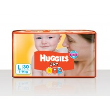 Huggies dry diapers L 8-14kg 30 Diapers