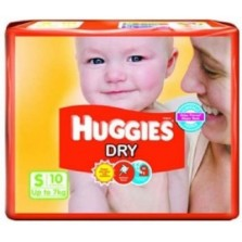 Huggies Dry Diaper S-10 - Small(10 Pieces)
