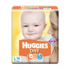 Huggies Dry Diaper-L Size (Large) -56Pcs
